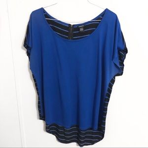 Torrid Blue stripped shirt size 1x